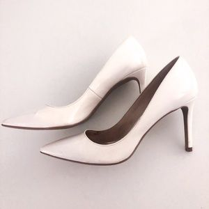 White Patent Leather Heels (7.5)